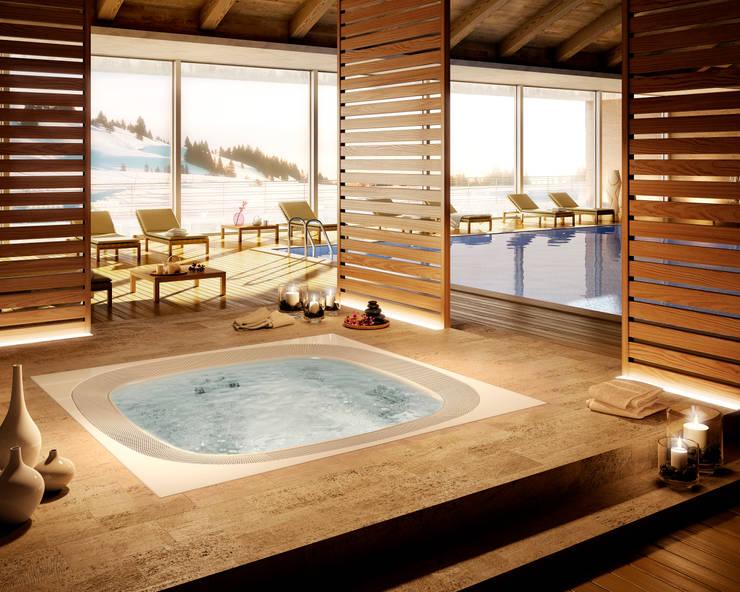 Baño Relajante Jacuzzi:Saunas, piscinas y jacuzzis: el bienestar en casa