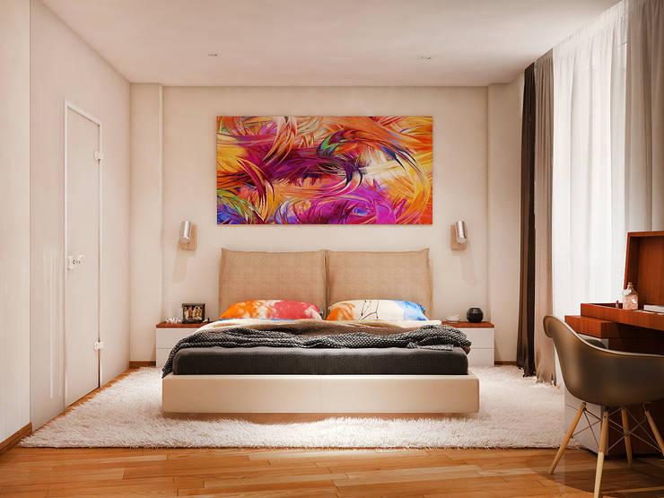 translation missing: eg.style.غرفة-نوم.modern غرفة نوم تنفيذ Tatiana Zaitseva Design Studio
