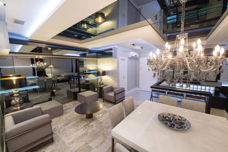 Salas De Estar Modernas E Luxuosas ~  CATARINA Salas de estar modernas por Athos Peruzzolo Arquitetura