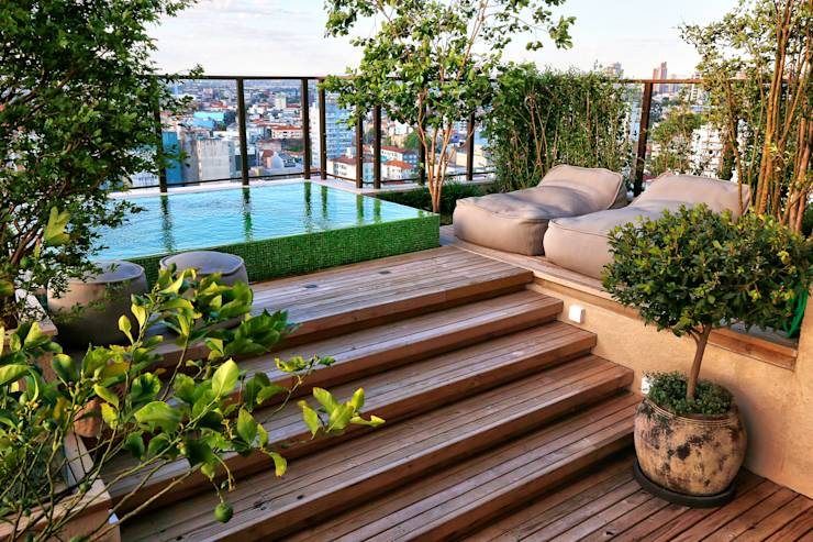 Terrazas  de estilo translation missing: cl.style.terrazas-.moderno por Tellini Vontobel Arquitetura