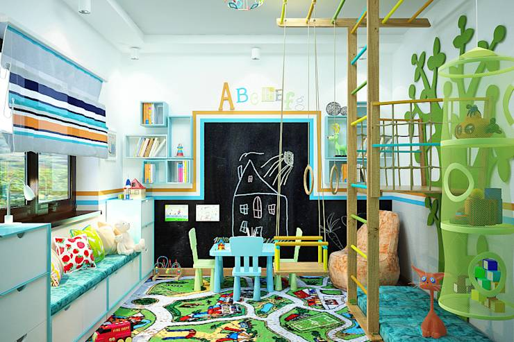 16 fabulous ideas for your kid 39 s room - Wall dizain pic ...