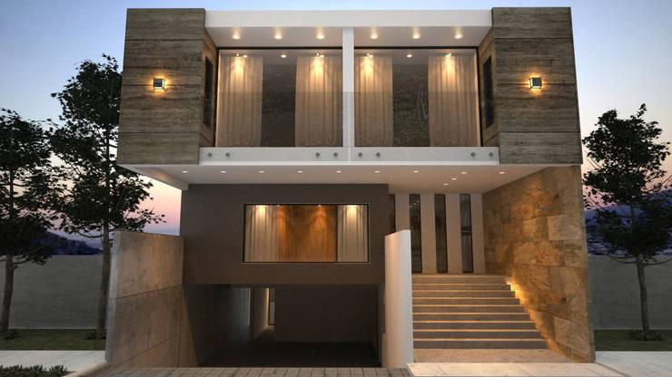 12 entradas escalonadas para que tengas una fachada fabulosa for Escaleras entrada casa