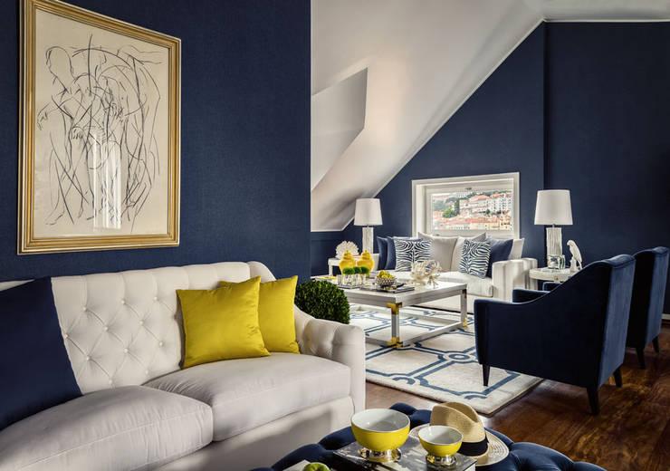 Salas de estilo moderno por Prego Sem Estopa by Ana Cordeiro