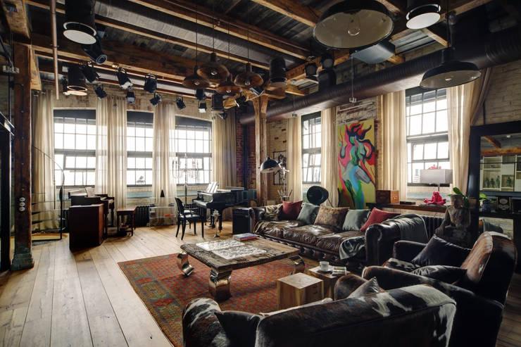 wohnzimmer retro style:Einrichtungstipps für einen coolen Industrial Style