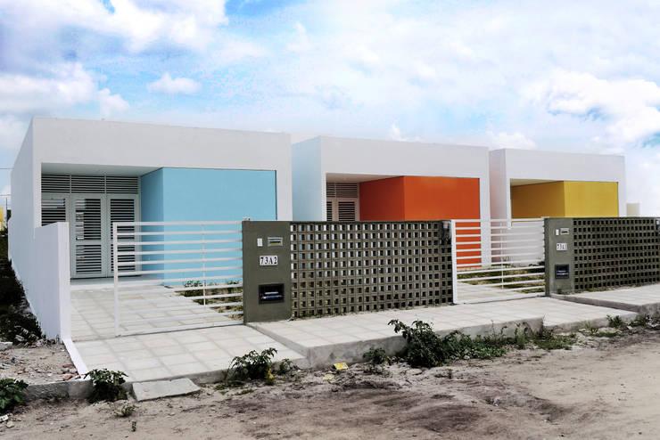 Cidade Feliz A: Casas minimalistas por Martins Lucena Arquitetura