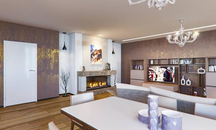 Das Wohnzimmer in Braun gestalten und zeitlos im Trend bleiben