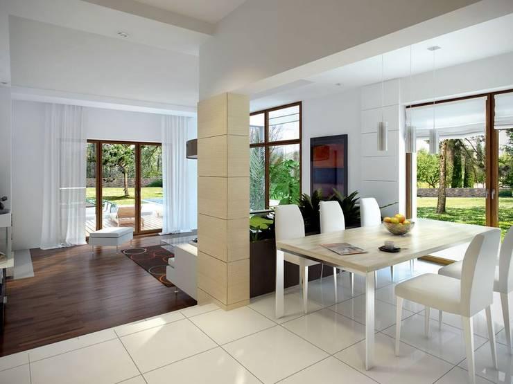 Modern living room by biuro projektowe mtm styl