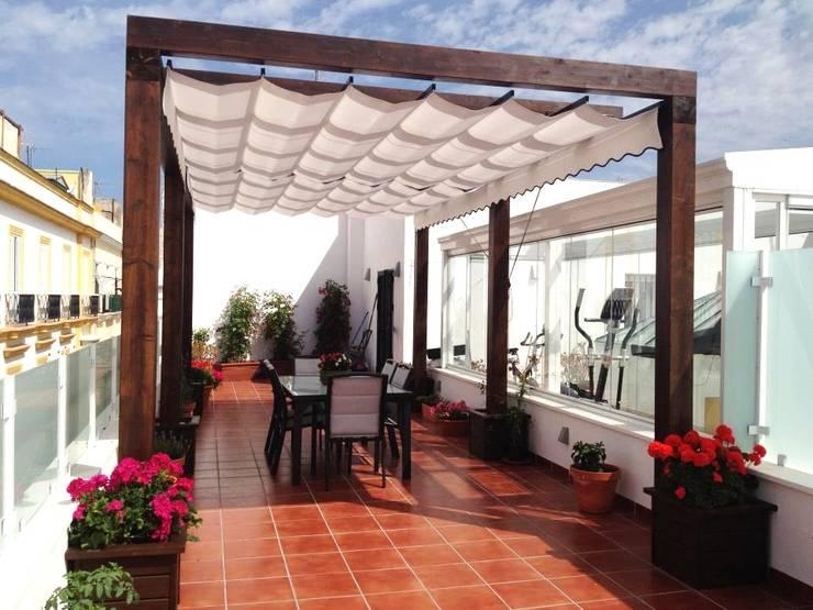 10 terrazas r sticas que se ver an so adas en tu casa - Toldos para aticos ...