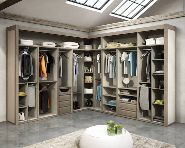 10 Closets modernos que pode dar-se ao luxo de ter