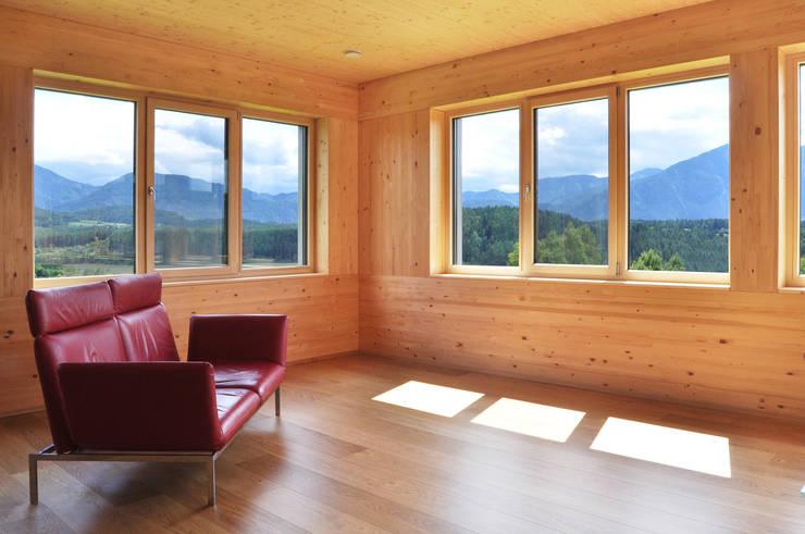 charmant architekt wohnzimmer - modernes wohnhaus mit seeblick