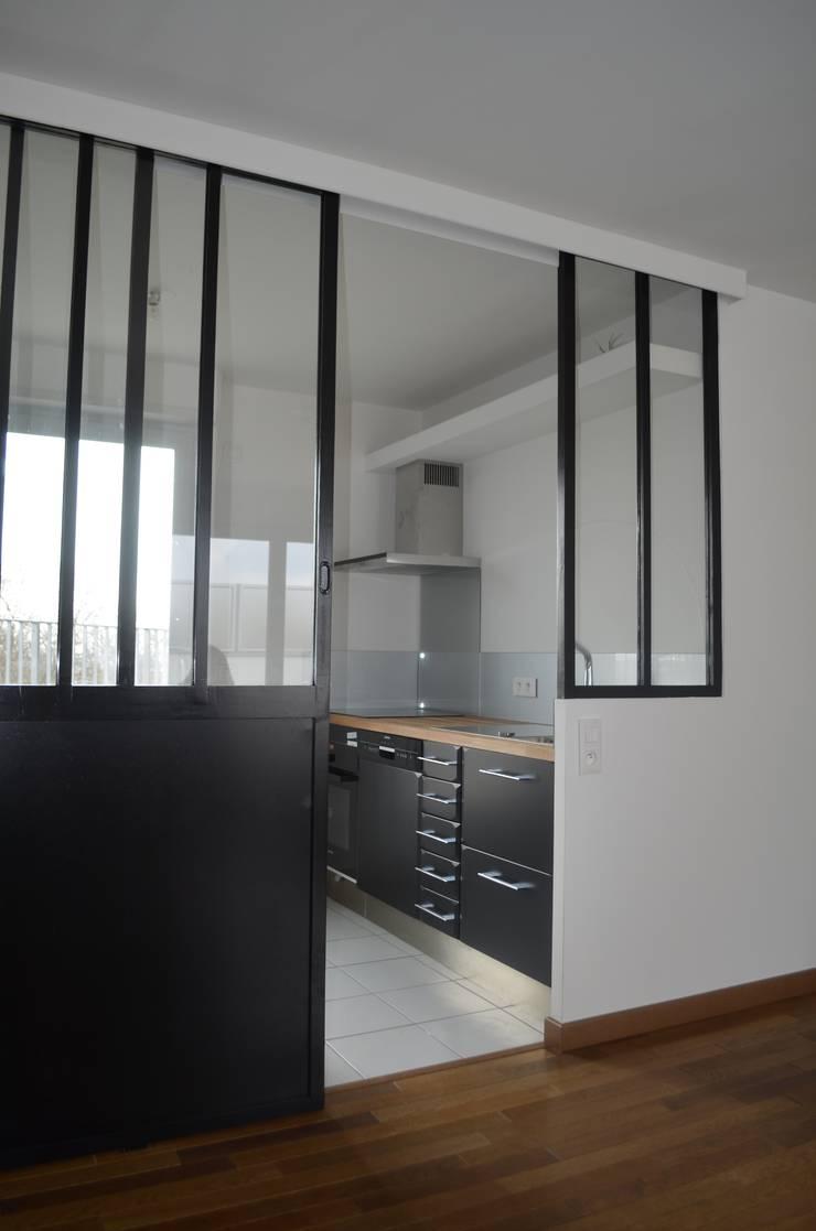 Verriere atelier en bois par 2 par m tre homify - Verriere atelier bois ...