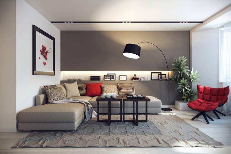 Salas de estilo ecléctico por Design Studio Details