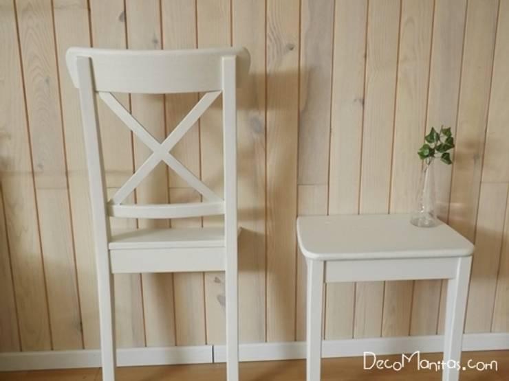 Transformar una vieja silla de ikea en un gal n de noche y una mesita de decomanitas homify - Modificar muebles ikea ...