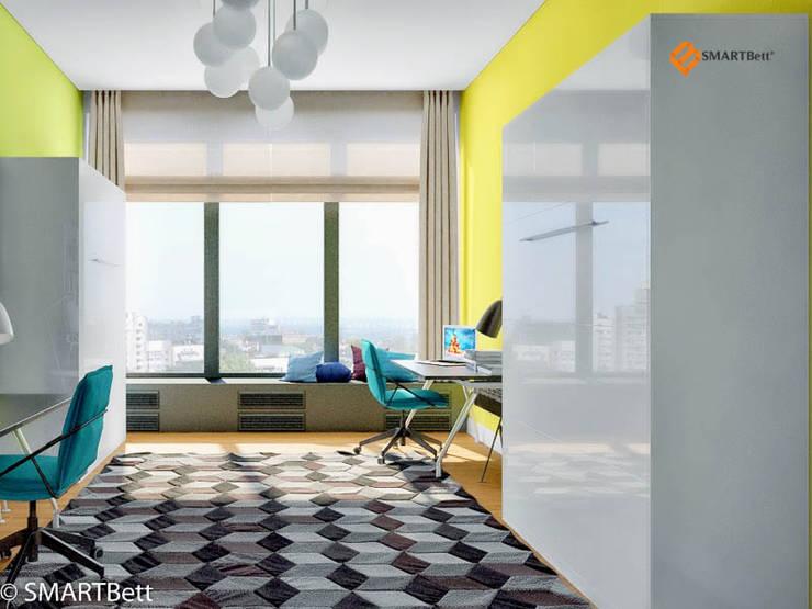 Wohnzimmer in schwarz wei for Schrank querbett