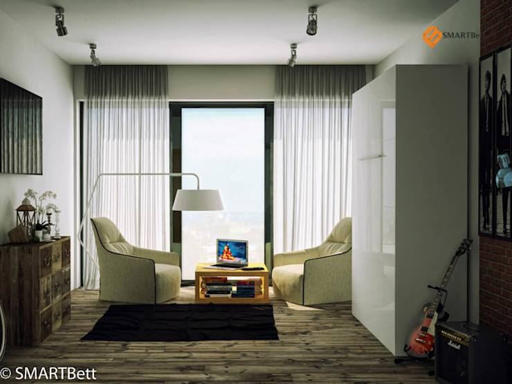 schrankbett smartbett 160x200 wei hochglanz von smartbett gmbh homify. Black Bedroom Furniture Sets. Home Design Ideas