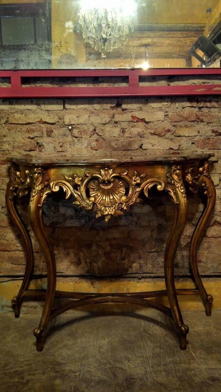 Antigua consola dressoire estilo frances luis xv de for Consolas antiguas muebles
