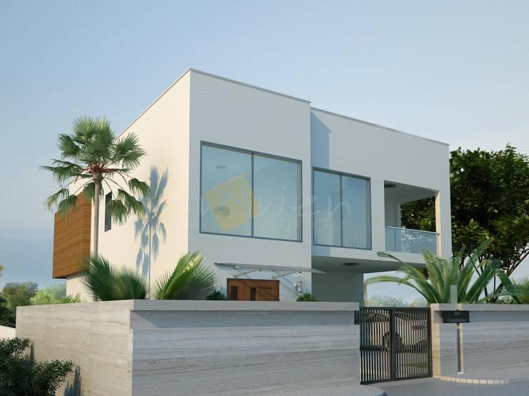vAvien İç Mimarlık - Villa: modern tarz Evler