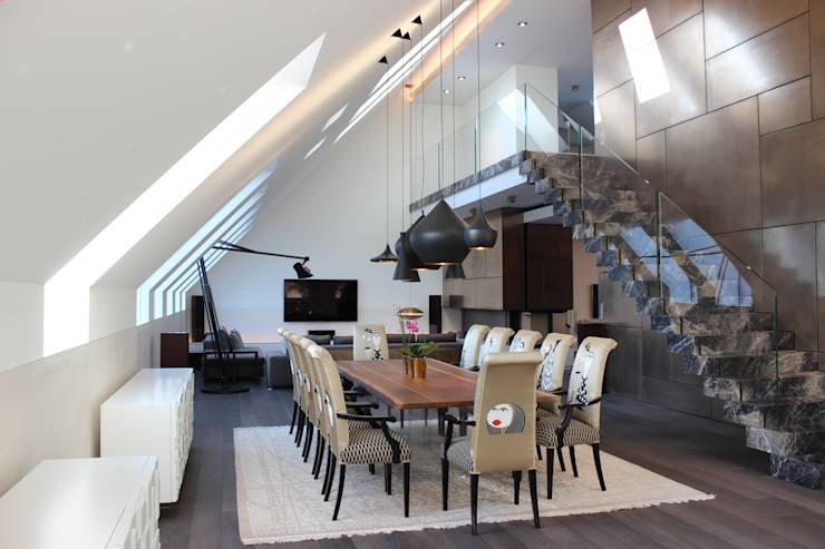 exklusives penthouse mit glamour faktor. Black Bedroom Furniture Sets. Home Design Ideas