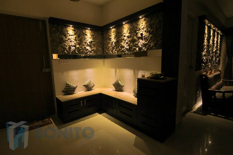 mr prasanth shetty 3bhk apartment interiors by bonito