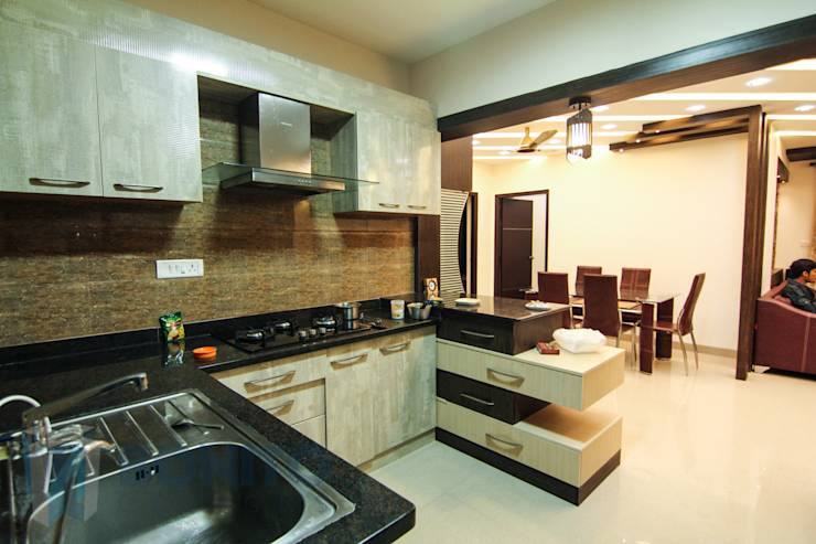 A modern indian family home in bangalore for Kitchen designs bangalore