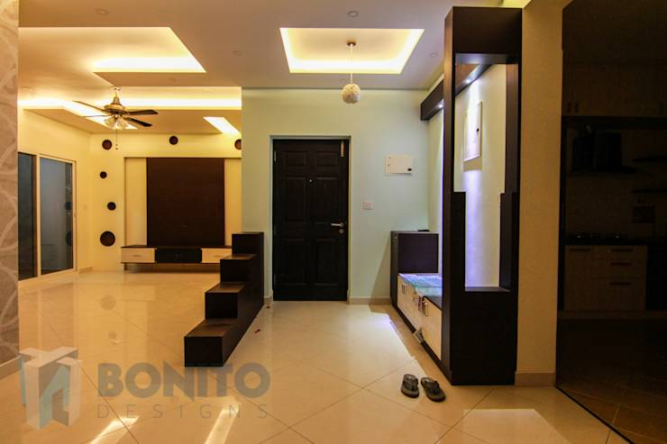 An ultramodern apartment in bangalore for Foyer designs for apartments india