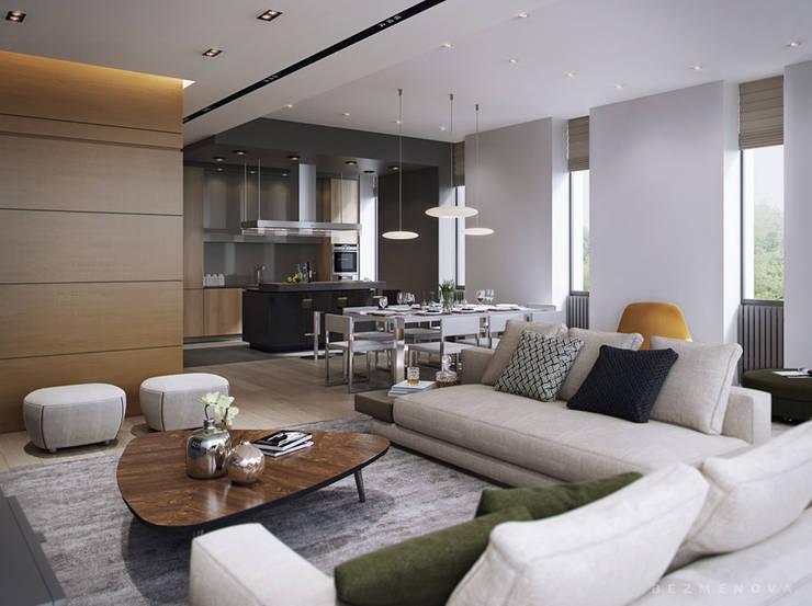 wohnen und essen in einem raum so wird es stilvoll. Black Bedroom Furniture Sets. Home Design Ideas