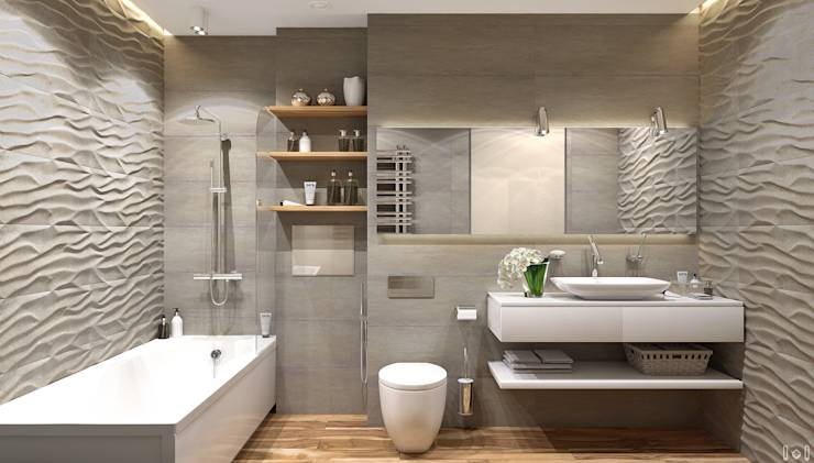 Tegels Badkamer Op Gyproc ~ minimalistische Badkamer door 1+1 studio