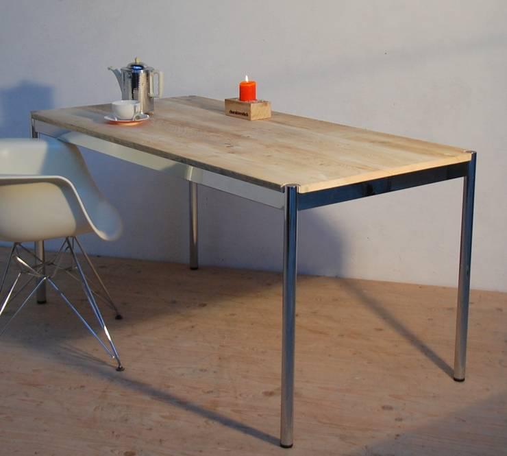 tische und b nke aus bauholz von tischlerei charakterst ck. Black Bedroom Furniture Sets. Home Design Ideas
