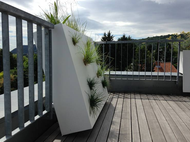 13 ideas de jardineras de concreto perfectas para patios - Jardineras para terrazas ...