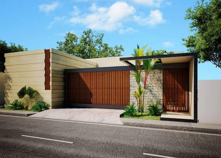 6 ideas para puertas y portones de casas modernas for Puertas en casas modernas