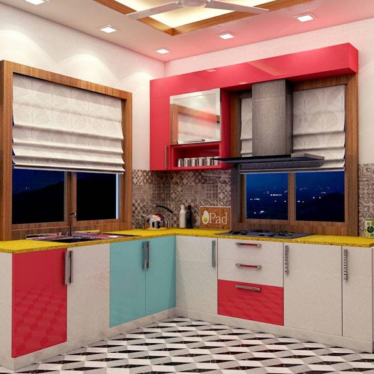 Kitchen Design :   by Creazione Interiors