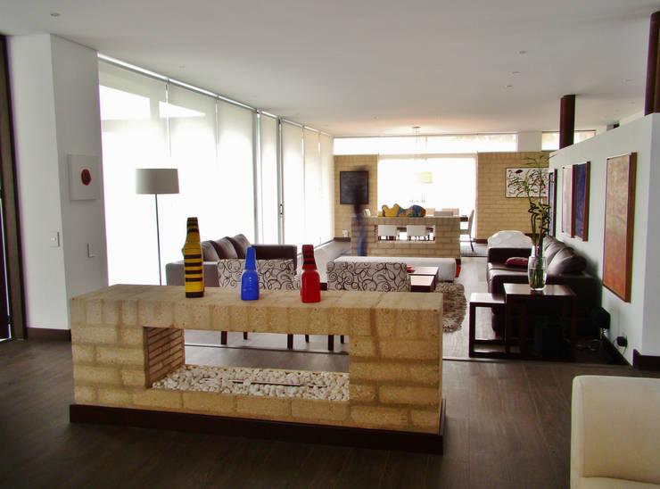 38 salas con una decoraci n espectacular for Departamentos decorados por dentro