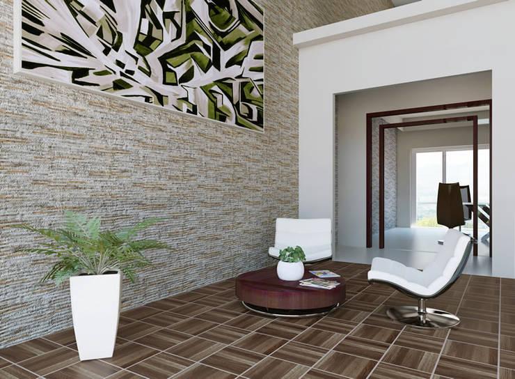 Azulejos para fachadas o paredes de estilo piedra de for Azulejos para entradas