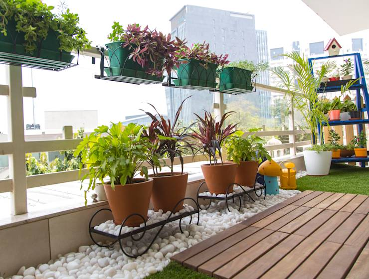 Balcony makeover english by studio earthbox homify for Arreglar un jardin con poco dinero