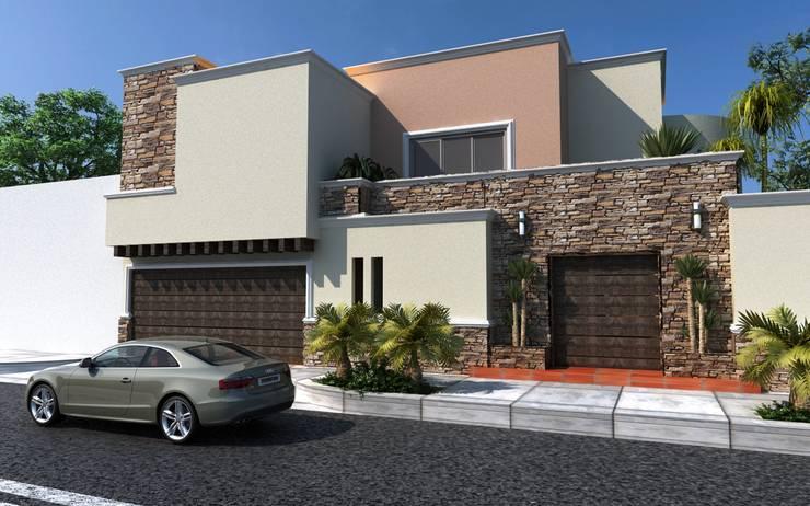 36 fachadas de dos pisos que te dar n ideas para dise ar for Combinaciones de pisos para casas