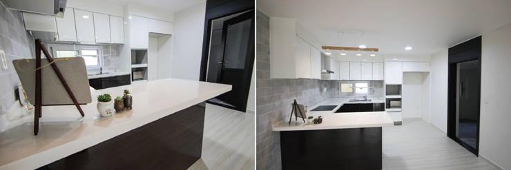 효율적인 공간 활용을 위해 새로 태어난 모던 주택