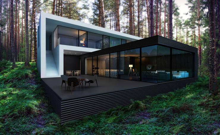 7 ideas de terrazas especialmente para ranchos o casas de for Casa minimalista 300m2