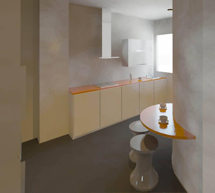 cuisine orange et blanc - Cuisine Ikea Marron