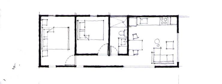 5 casas modernas de un piso con planos para inspirarte m s for Casa moderna 6x6