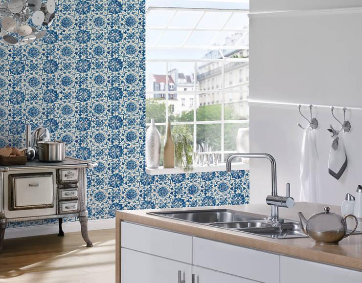 10 ideas que har n que las paredes de tu cocina se vean - Disbar papeles pintados ...