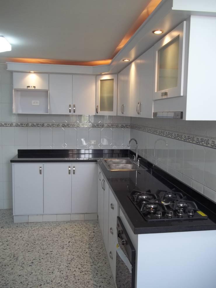 Cocinas integrales modernas en barranquilla de arteintegrales homify - Cocinas de material rusticas ...