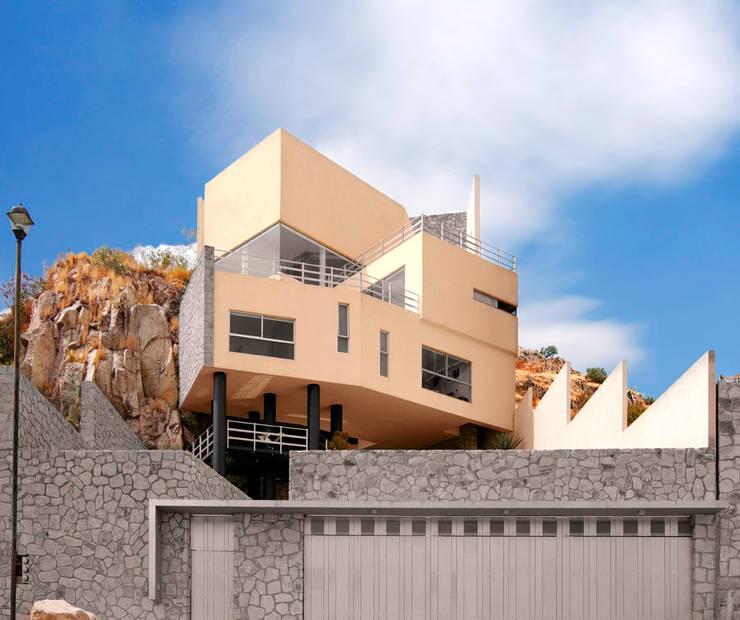7 fachadas con piedra por arquitectos mexicanos - Piedras para fachadas de casas ...