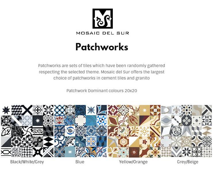 mosaic del sur granito patchwork cementtegels granito. Black Bedroom Furniture Sets. Home Design Ideas