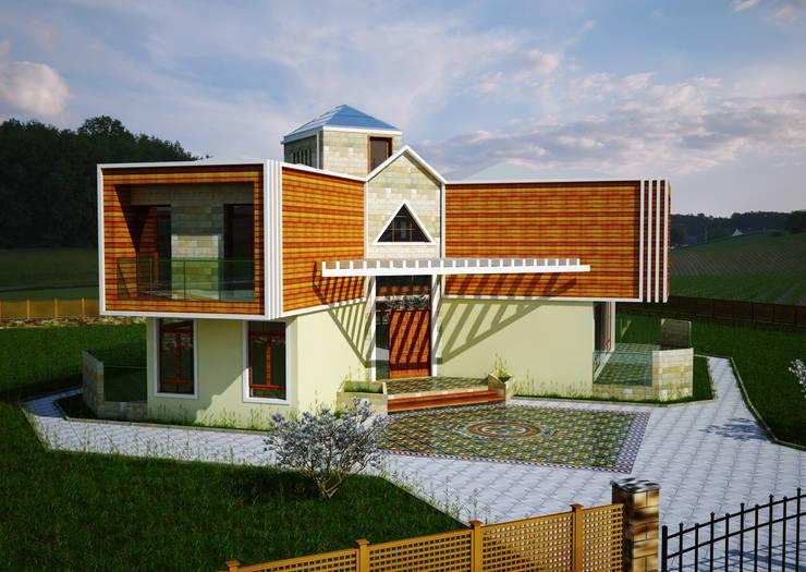 H.E: Mimarlık - Ahmet Bey Edremit Villa Projesi: modern tarz Evler