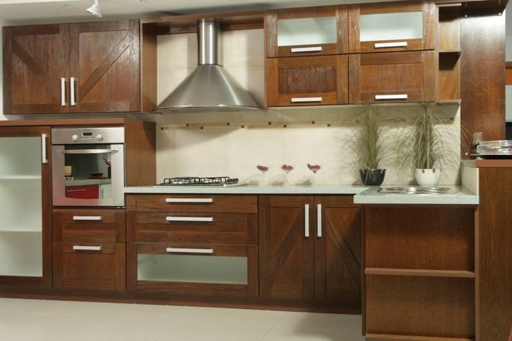 7 cocinas modernas con la madera como protagonista for Amoblamientos de cocina modernos