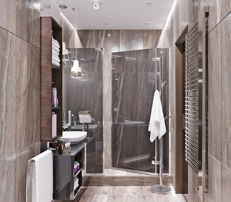 16 bathrooms with modern and fabulous showers for Door new dizain