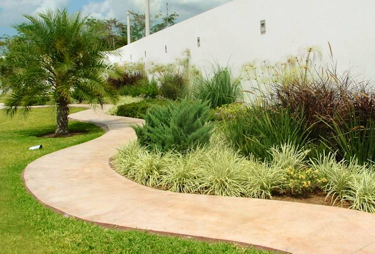 Paisajismo en los jardines frontales 7 ideas fabulosas Ideas paisajismo jardines
