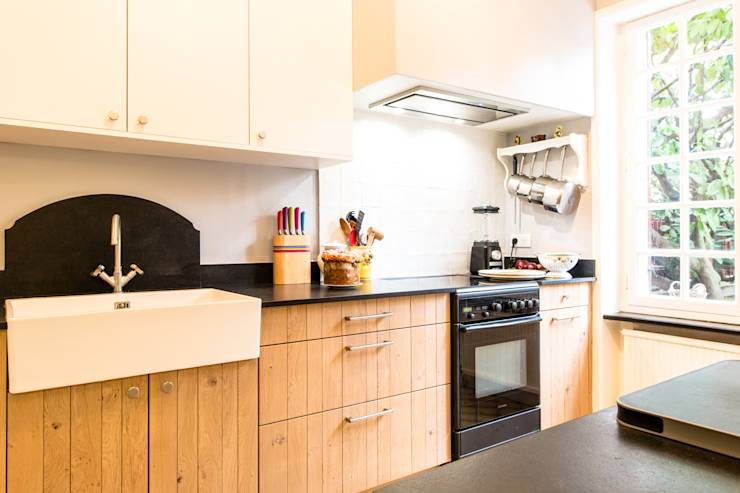 cuisine evolution en chene massif miami white par mj home homify. Black Bedroom Furniture Sets. Home Design Ideas