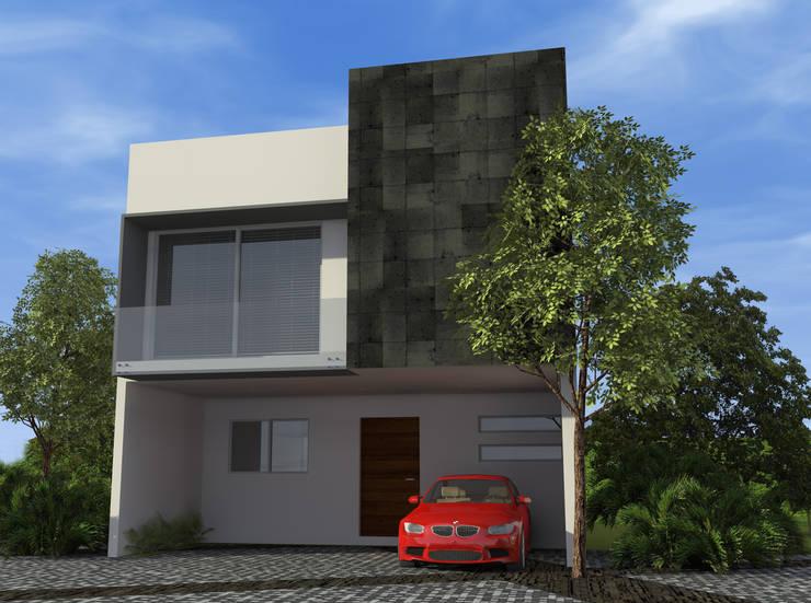 12 fachadas de casas con garaje que te van a encantar y a for Fachada de casas modernas con garaje