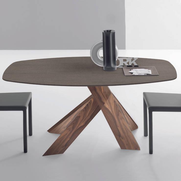 Tables de salle manger ou de cuisine design moderne et original par homify - Table ovale design pied central ...